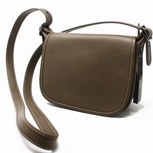 Coach Saddle 1941 Taupe Leather Cross Body 57731